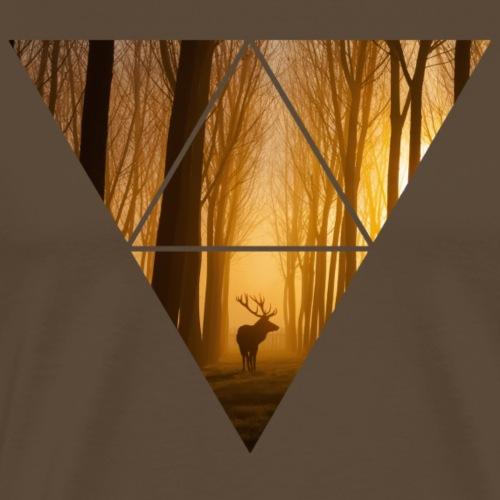 Deer in a Forest - Männer Premium T-Shirt