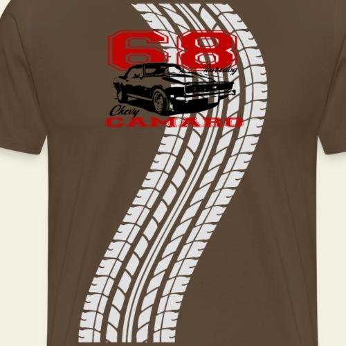 68 camaro sixty eigh trackt - Herre premium T-shirt