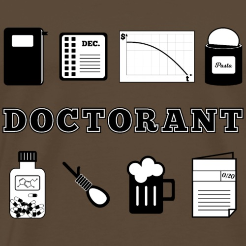 Definition Doctorant - T-shirt Premium Homme