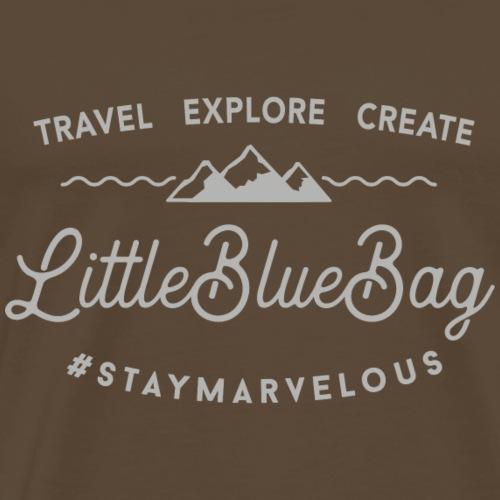 travel explore create grey - Männer Premium T-Shirt