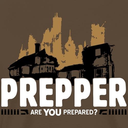 Prepper Preppers Survival Krise Krieg Überleben - Männer Premium T-Shirt
