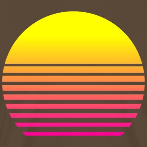 80s Sun - Männer Premium T-Shirt