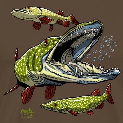 Cool Pike Fishing T-shirt, Hoodie and Products - Miesten premium t-paita