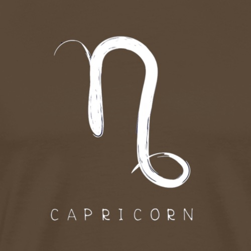 Capricorn Sign and Text