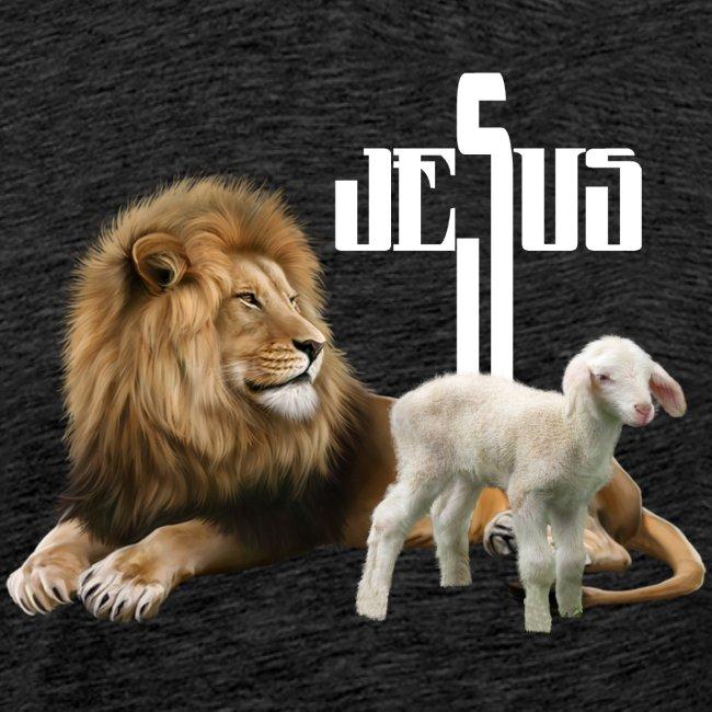 Jesus der Löwe und das Lamm