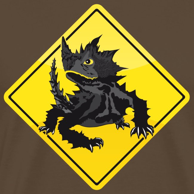 Australien Roadsign Thorny Devil