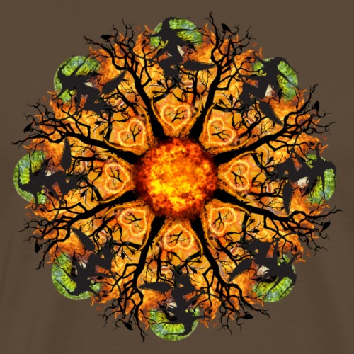 scary witch mandala - Men's Premium T-Shirt
