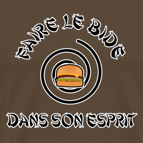 FAIRE LE BIDE DANS SON ESPRIT - Jeux de mots - T-shirt Premium Homme