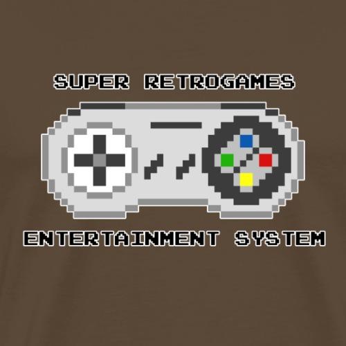 Super retrogames entertainment system - T-shirt Premium Homme