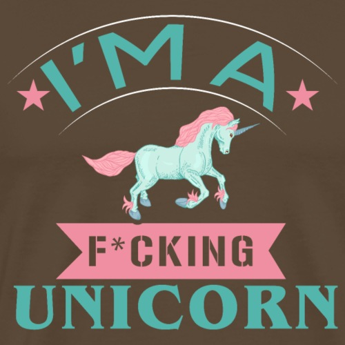 i m a fucking unicorn - Männer Premium T-Shirt