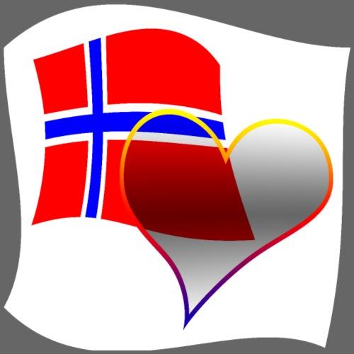 i love Norve - Maglietta Premium da uomo
