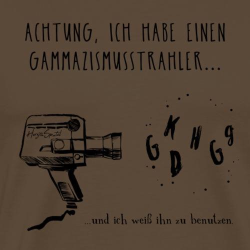 Gammazismusstrahler - Männer Premium T-Shirt