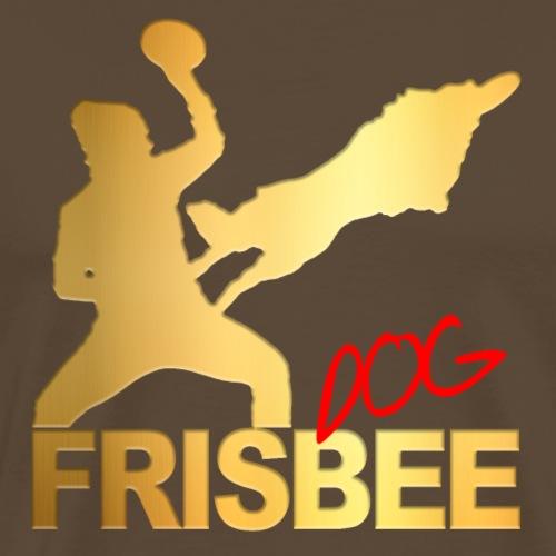 Frisbee Dog Gold - Männer Premium T-Shirt