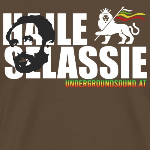 HAILE SELASSIE with LION Flag - Männer Premium T-Shirt