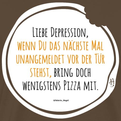 Depression Pizza schwarz-gelb - Männer Premium T-Shirt