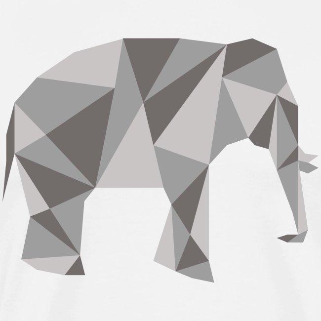 elephant géométrique