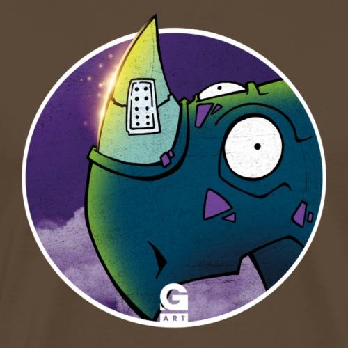 GIGGJOTT animatti rinocerotto - Maglietta Premium da uomo
