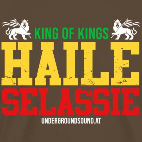 KING OF KINGS - HAILE SELASSIE - Männer Premium T-Shirt