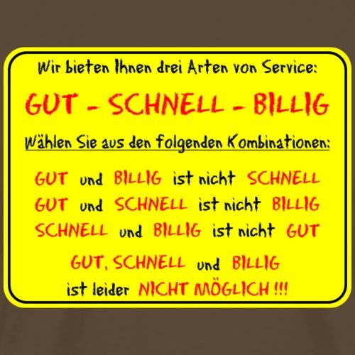 Gut - Schnell - Billig (gelb) - Männer Premium T-Shirt