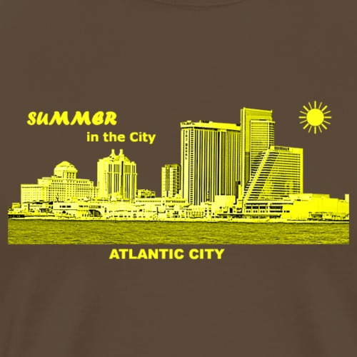 Sommer Atlantic City New Jersey Skyline Sonne - Männer Premium T-Shirt