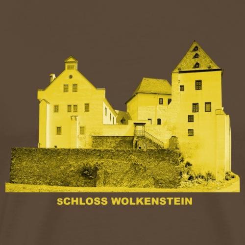 Schloss Wolkenstein Erzgebirge Sachsen Burg - Männer Premium T-Shirt