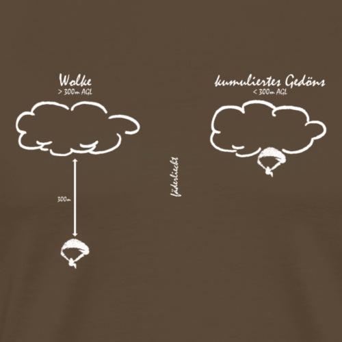 Kumuliertes Gedöns (weiss) - Männer Premium T-Shirt