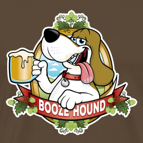 Booze Hound Beer Drinker - Men's Premium T-Shirt