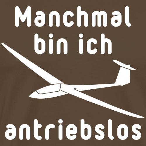antrieblos Segelflieger lustig Geschenk Pilot - Männer Premium T-Shirt