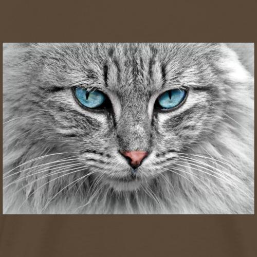 cat blue eyes - Männer Premium T-Shirt