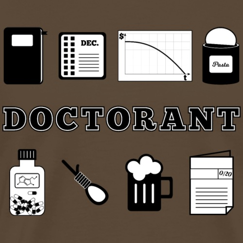 Definition Doctorant - T-shirt Premium Homme