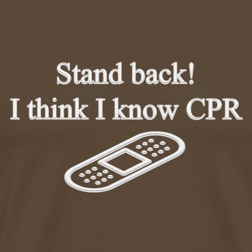Stand back! - Premium-T-shirt herr