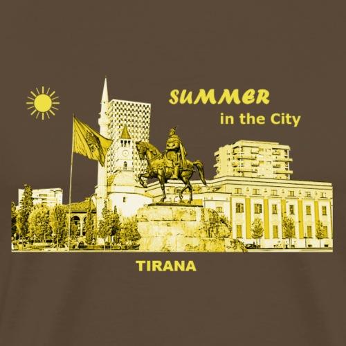 Summer Tirana Albanien City Sommer Rathaus Denkmal - Männer Premium T-Shirt