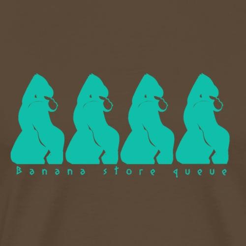 Gorille & file d'attente - T-shirt Premium Homme