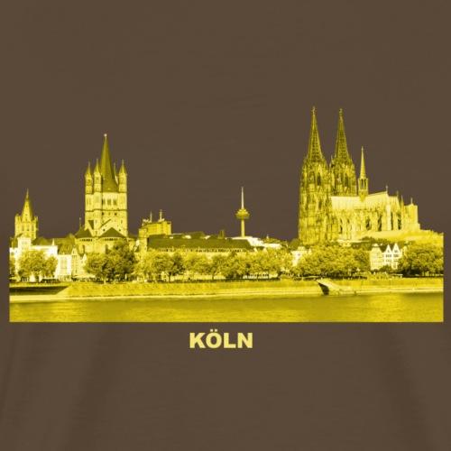 Köln Dom Rhein Nordrhein-Westfalen Deutschland - Männer Premium T-Shirt