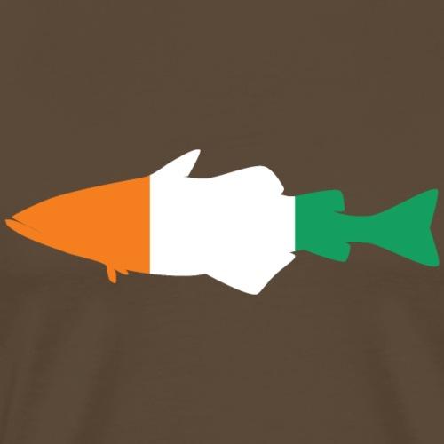 Pollack_vollformat_Irland_Umriss - Männer Premium T-Shirt