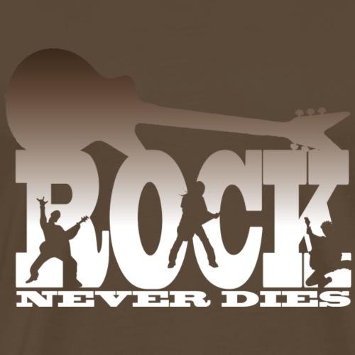 rock newer dies brown - Maglietta Premium da uomo