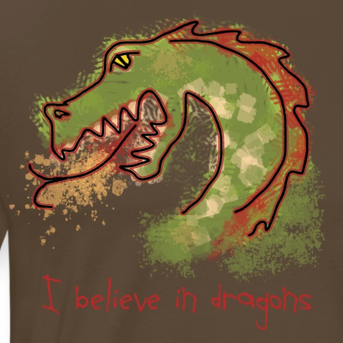 I believe in dragons - Men's Premium T-Shirt