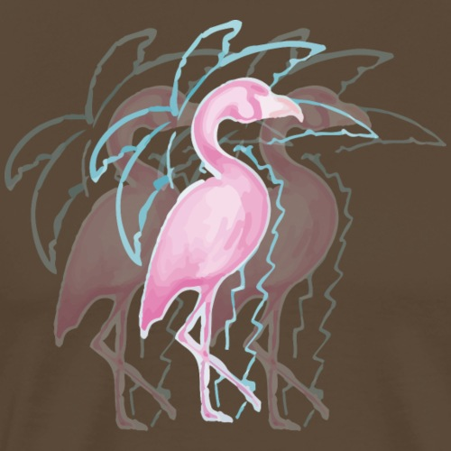 Flamingo unter Palme - Männer Premium T-Shirt