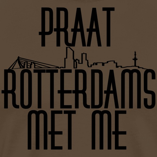 Praat Rotterdams Met Me - Mannen Premium T-shirt