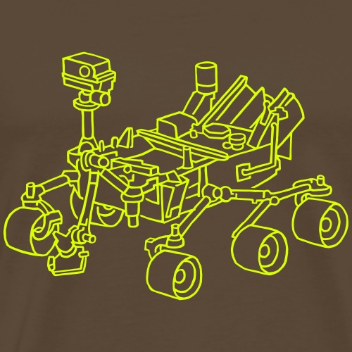 Curiosity, der Marsrover - Männer Premium T-Shirt