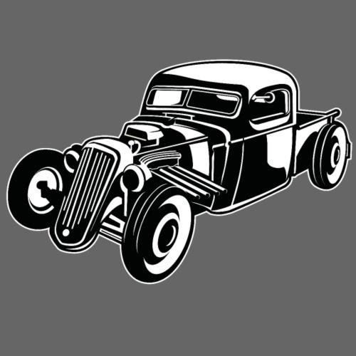 Hot Rod / Rat Rod 08_schwarz weiß - Männer Premium T-Shirt