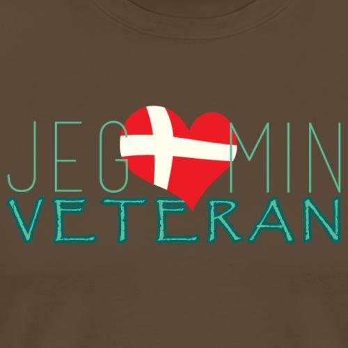 Jeg Elsker Min Veteran - Herre premium T-shirt
