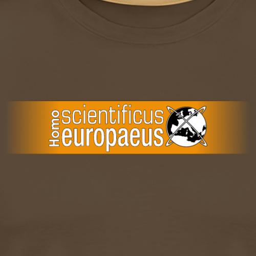 Homo scientificus europaeus logo - orange - Men's Premium T-Shirt