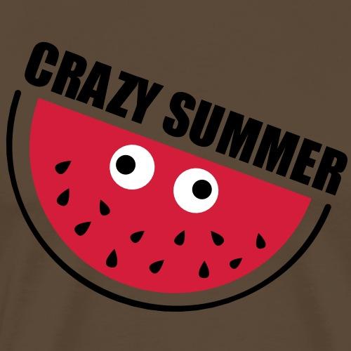 Crazy Melone - Männer Premium T-Shirt