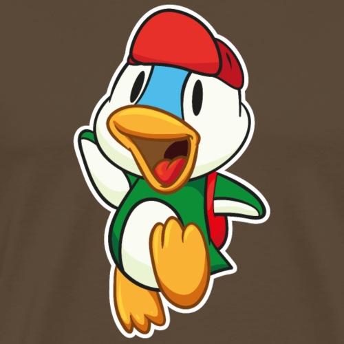 Süße kleine Ente springt vor Freude - Männer Premium T-Shirt