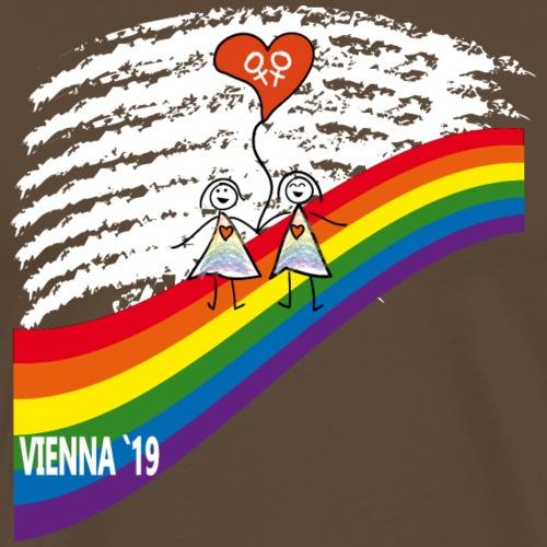 Frauen Paar Pride 2019 - Männer Premium T-Shirt