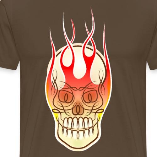 Tribal Celtic Flaming Skull - Men's Premium T-Shirt