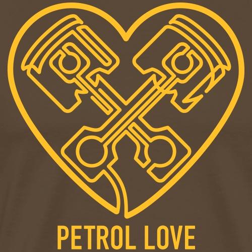 »One Line« Petrol Love - Männer Premium T-Shirt