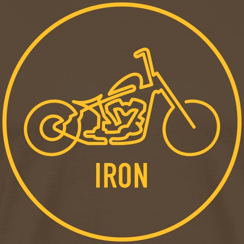 »One Line« Motorcycle - »IRON« - Männer Premium T-Shirt