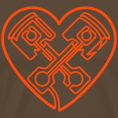 »One Line« Petrol Heart - Männer Premium T-Shirt